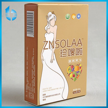 Factory directly supply hollowed -out embossed paper packaging box for chau-cer Gelatin dessert