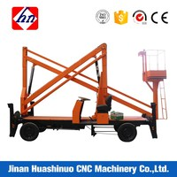 Optional Color Trailer Mounted Boom Lift Truck Mounted Articulating Boom
