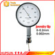 high quality precision mechanical measuring jeweled tip 0-0.2mm 0.002mm metric micron dial test indicator