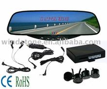 Bluetooth Car Rear View Mirror , Car Bluetooth Mirror with Wireless Parking Sensor BT-628C4