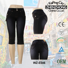 WZ-0346-31 black jeans for women girls nice capri made in china