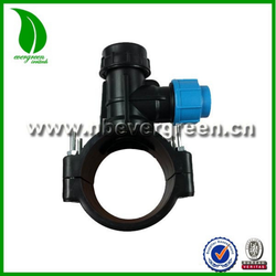 PN16 PE pipe plastic clamp saddle with cutter made in China