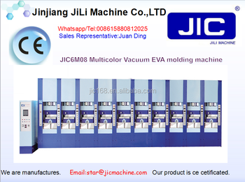 JIC6M08 Multi-- Color EVA Shoe /Sole Vacuum Making Moulding Machine