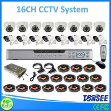 16 channel cctv dvr kits,big animals mating, security camera system