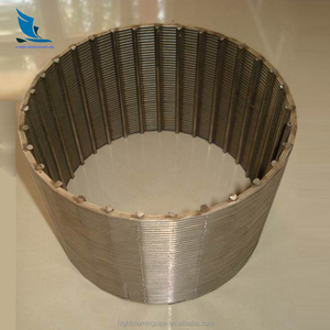 Water well metal mesh screen pipe casing slotted liner water filter tube