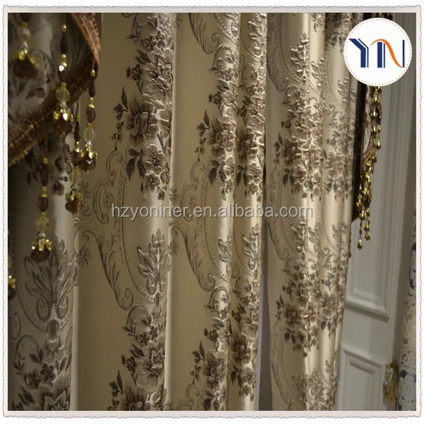 new arrival 100% polyester jacquard fabric window curtain fabric