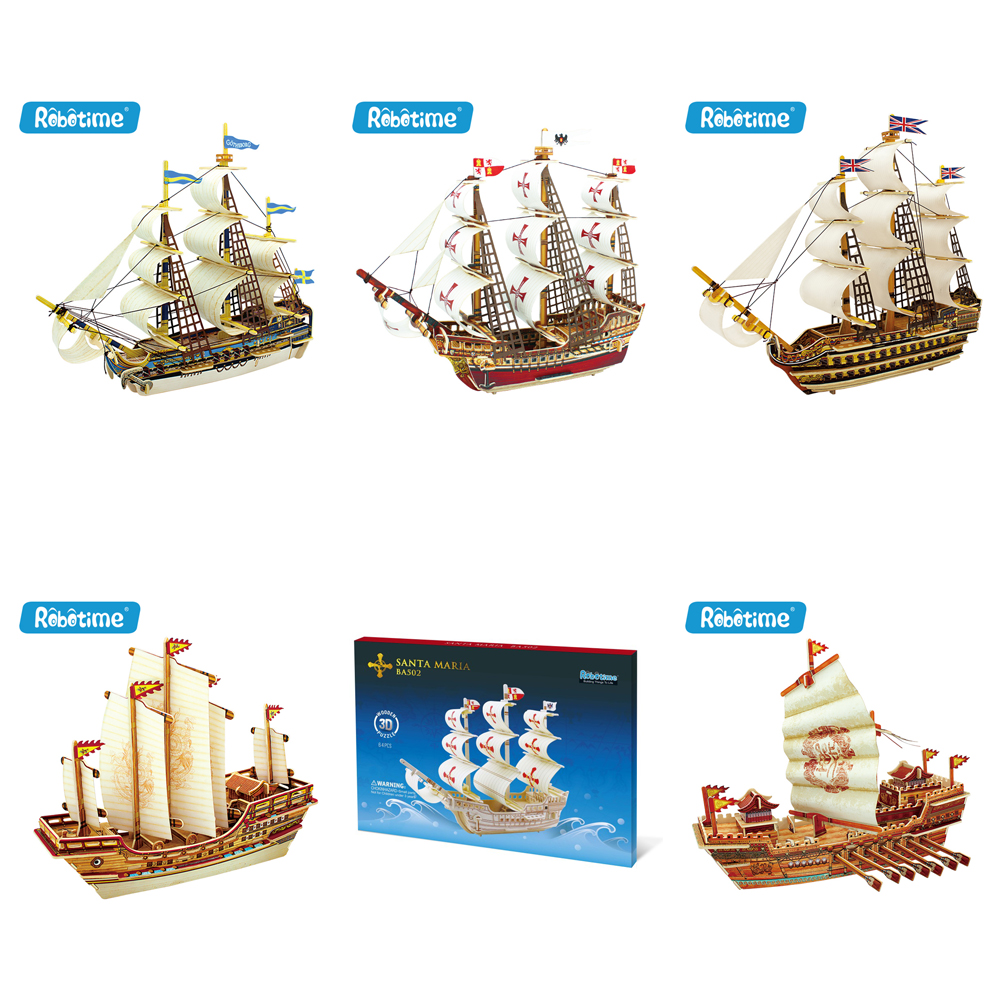 3D Wooden Ancient Boat <strong>Model</strong> Kits