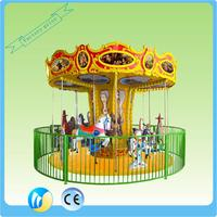 good quality flat ride theme park game ride on toys low price carousel for kids