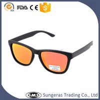 Sungeras cheap promotional printed lens one dollar mirror coating square shape plastic frame ce uv400 custom classic sunglasses