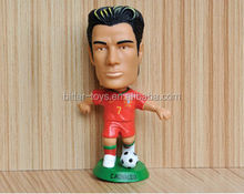 Plastic one piece miniature figurine footballers player action figures toys