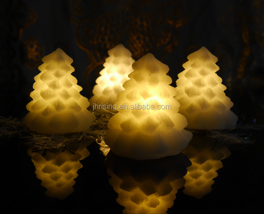 Home decoration wax Christmas tree mini led candles mini led