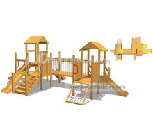 AOQI great attraction hard-wearing quality Wooden Toy City