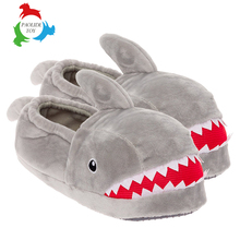 New Design Fashion Embroidery Red Teeth Rabbit Plush Slippers Lady Shoes