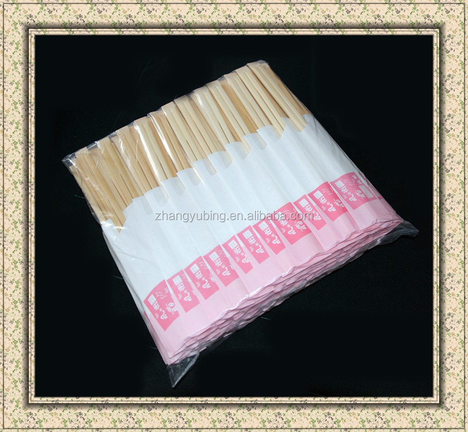 High Quality Disposable Bamboo Chopsticks with paper sleeve