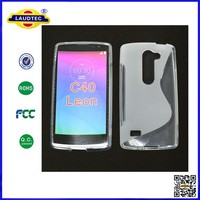 Colorful Soft TPU Gel S Line Type Back Case For LG Leon