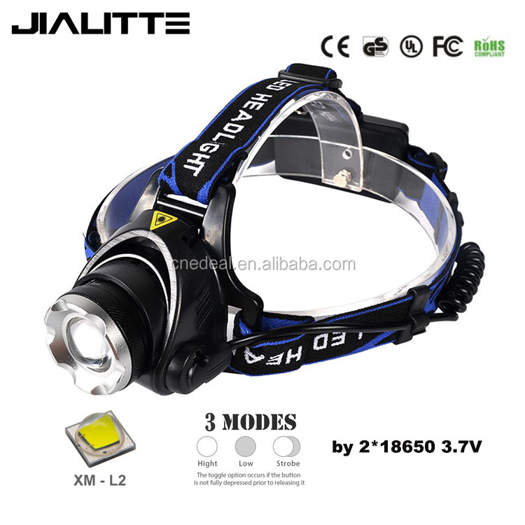 Jialitte H001 Led Headlamps Head light CREEs XML <strong>L2</strong> LED 2000LM led Zoom Headlights Head lamp
