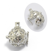 Fashion DIY Jewelry Silver Plated Hollow Out Magic Box pendant accessories wholesale