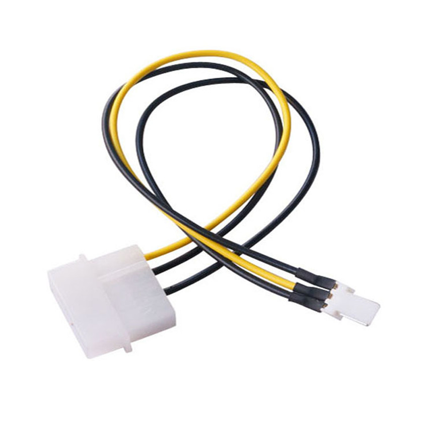 20 Cm Kipas Komputer IDE 4 Pin Molex Male untuk 3 Pin Male Kabel Adaptor Daya