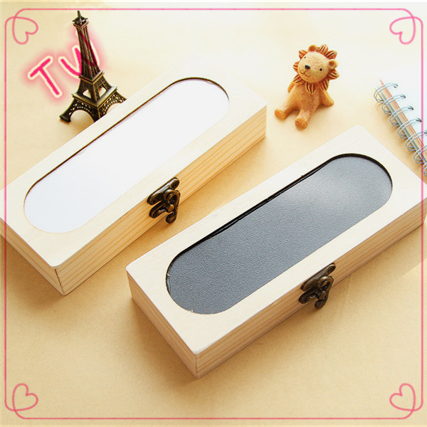 New fashion cute korean stationery in stock ,oem odm eco-friendly wooden pencil case nice cases for adults