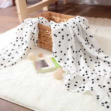 Cotton muslin swaddle printed organic baby blanket