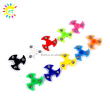 Plastic Finger Flying Saucer LED Hand spinner Toys for ADD ADHD Adults