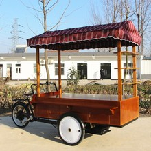 New condition and right steering electric tricycle three wheel food vending cart for street sale at factory price