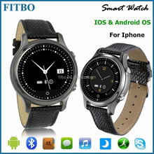 Metal & Leather hand watch phone with sim + pedometer for Nokia 6