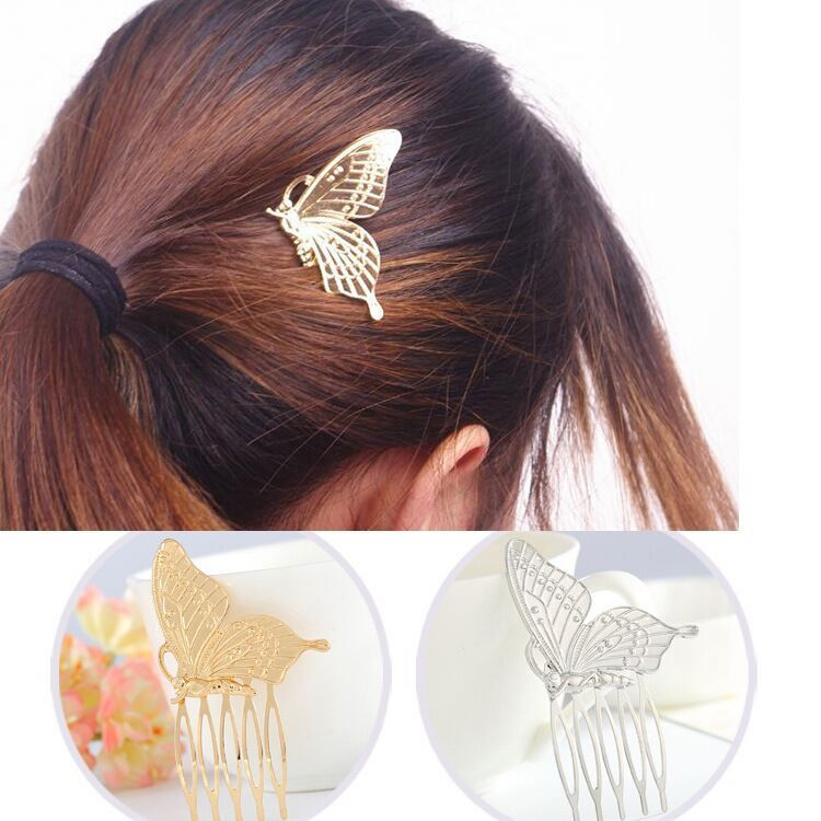 Fashion women hair accessories butterfly hairpin clip wholesale