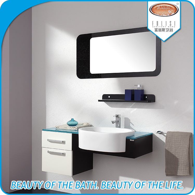 Wall mounted dressing table bathroom vanity for apartment