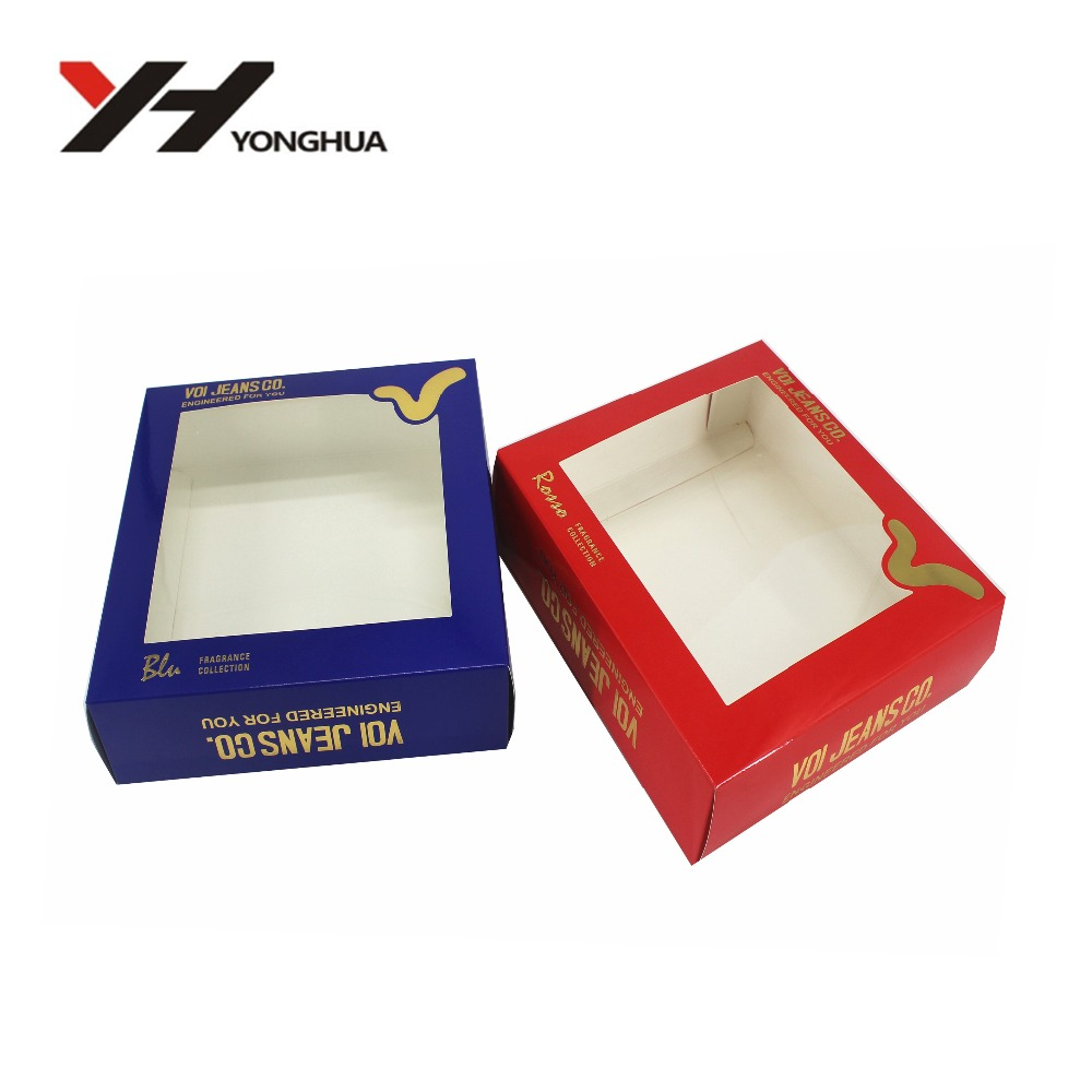 Plastic save space clear PVC folding boxes for hair extension false eyelash packaging