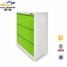Very Cheap Second Hand 3 Large Green Drawer Filing Cabinet