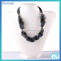 diy jewelry Handmade Natural Acrylic Square Fashion Beaded Necklace
