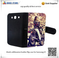 2d Blank Sublimation Leather Phone Cover for Samsung Galaxy S3 9300 Sublimatin Wallet Flip Case for printing