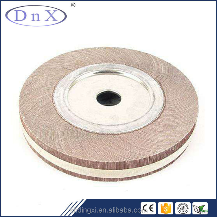 high grade 60# Aluminium Oxide abrasive flap wheel for polishing stainless steel