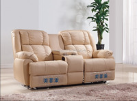 Latest design home genuine leather recliner loveseat sofa