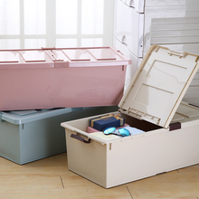 Alibaba Supplier Top 1 Eco-Friendly Double Open Lid Under Bed Plastic Storage Box With Wheel