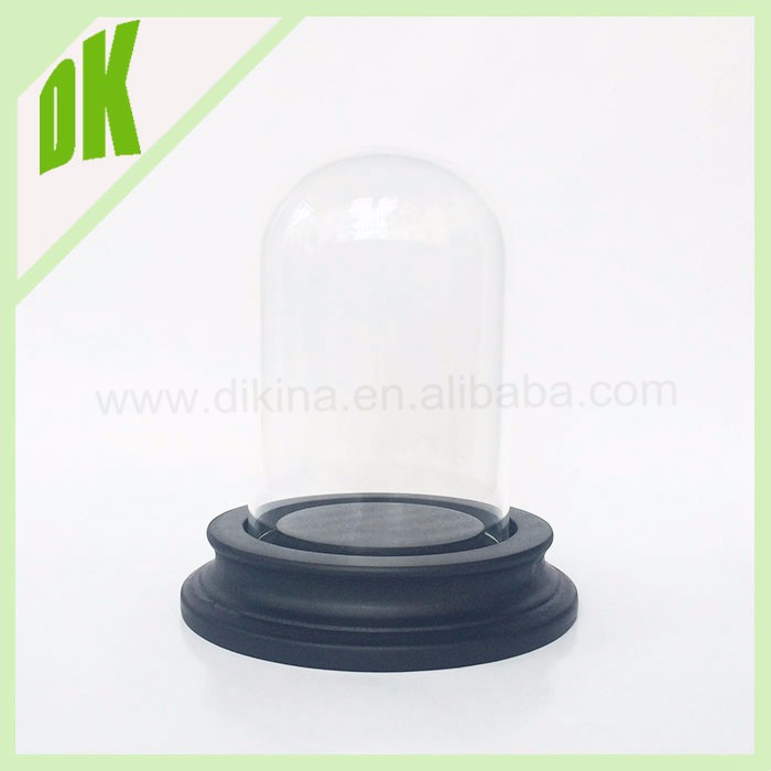 Glass dome with base }{ Dollhouse Miniature Glass Dessert Pot Plate cakes candy Jar coffee [] dome round glass bell jar shape