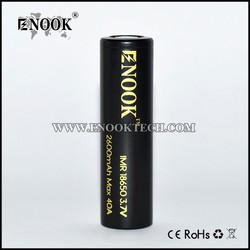 2017 Enook 18650 2600 mah Max 40A rechargeable battery with high technical research in wholesale price