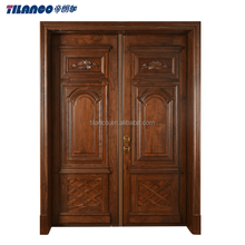 Antique Carved solid wooden double main door new designs