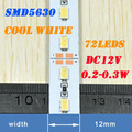 China Supplier DC12V 0.2-0.3W 18-20LM SMD5630 72led Warm White Rigid LED Bar Light