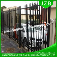 JZB-Cheap 2400mm Width Galvanized Steel Spear Top Garrison Fence Panel/Steel Picket Fencing