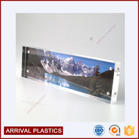 cube block wholesale picture display magnetic acrylic panoramic block frame