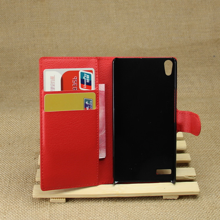 Bottom price new arrival leather slim case for huawei ascend p6