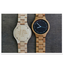 Wholesale Custom Printing Logo Engraved Wooden Bamboo Wrist Watches