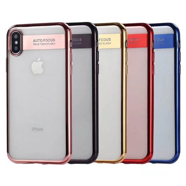 Crystal plastic pc material case phone cover for iphone X slim case back cover