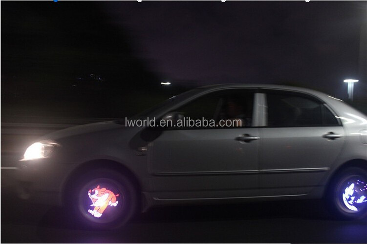 40 RGB 360*80 Pixels Colorful Car LED Wheel Lights Automobile Wheel Lamps for Toyota VW Volkswagen Audi BMW Mazda Warning Lights