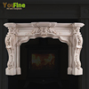 Indoor Luxurious White Marble Fireplace For Sale