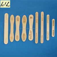 Wooden sticks for Ice cream of plain edge and bevelled edge