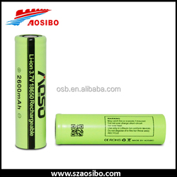 AOSIBO ICR18650-2600mah keeppower 18650 3.7v Battery rechargable for torch