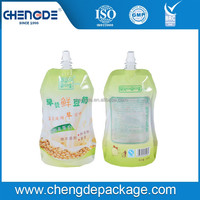 High Quaility Durable self standing spout pouch beverage bag